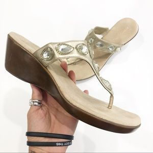 Aerosoles Sandals Metallic Yespresso size 9.5